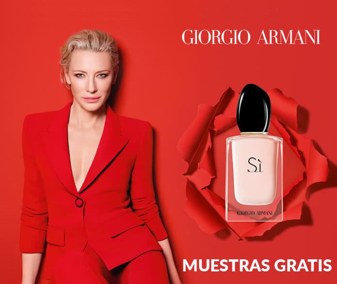 Muestras Gratis del perfume para mujer Si Fiori de Giorgio Armani