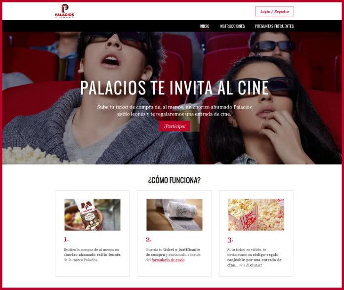 Gana con Palacios: consigue una invitación al cine por la compra de un producto suyo