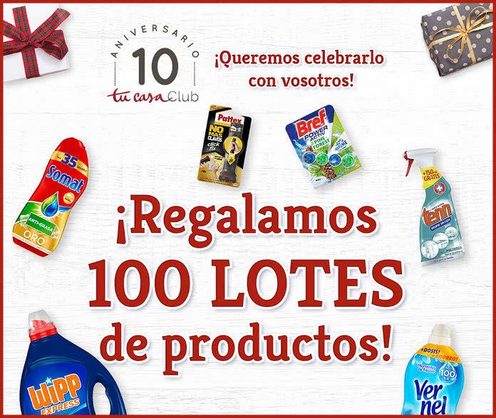Sorteo de 100 lotes en el décimo aniversario de tucasaClub