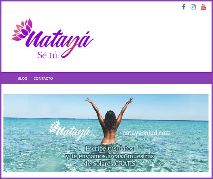 Muestras gratis de productos solares en la web Natayá Salud