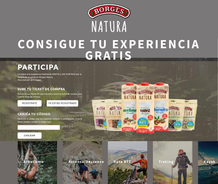 Regalo directo de Experiencias por la compra de productos Borges