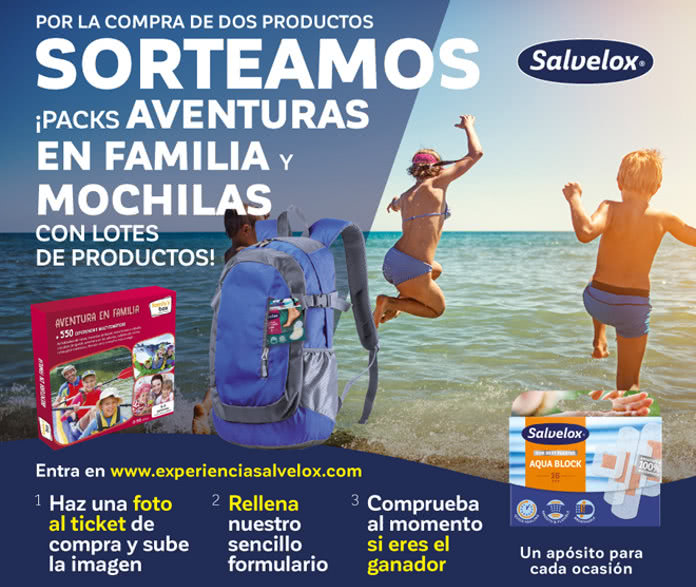 Tiritas Salvelox Sortea Packs de Aventuras y mochilas