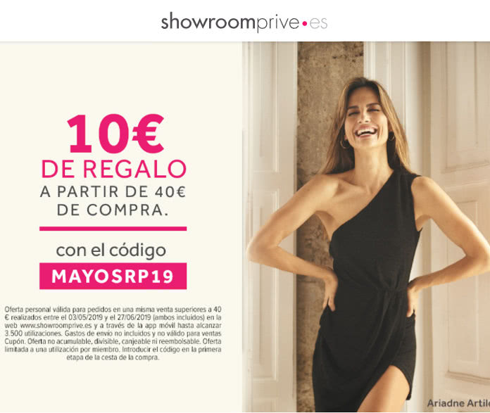 Super ofertas de women'secret y Maybelline en ShowRoomPrive y 10€ de descuento