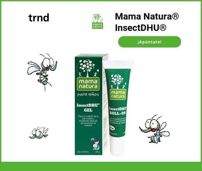 800 reembolsos para el protector de picaduras Mama Natura InsectDHU