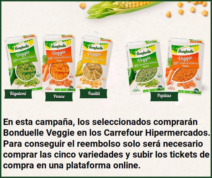 200 reembolsos de las cinco variedades de Bonduelle Veggie en TRND (último día)