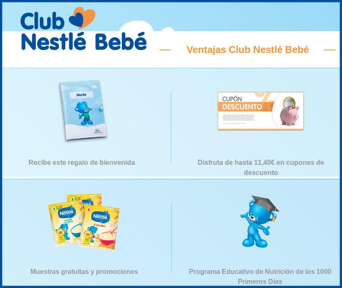 Muestras Gratis para bebé y Portadocumentos en el Club Nestlé