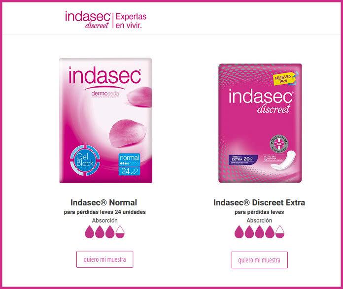 indasec-muestras-gratis-decenas-de-productos
