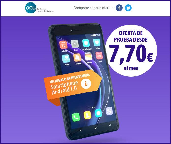 Consigue un móvil Android por suscribirte a la OCU