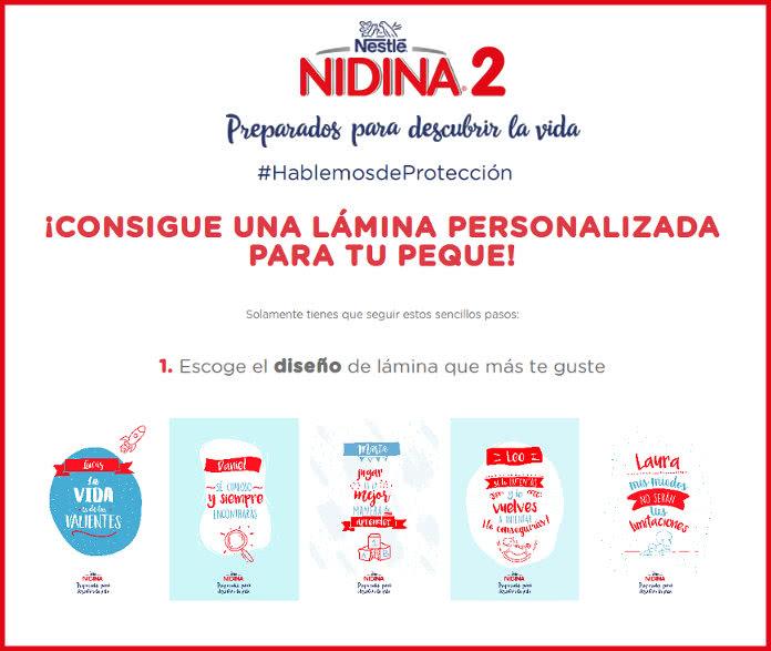 Consigue una de las láminas de Nidina para tu bebé