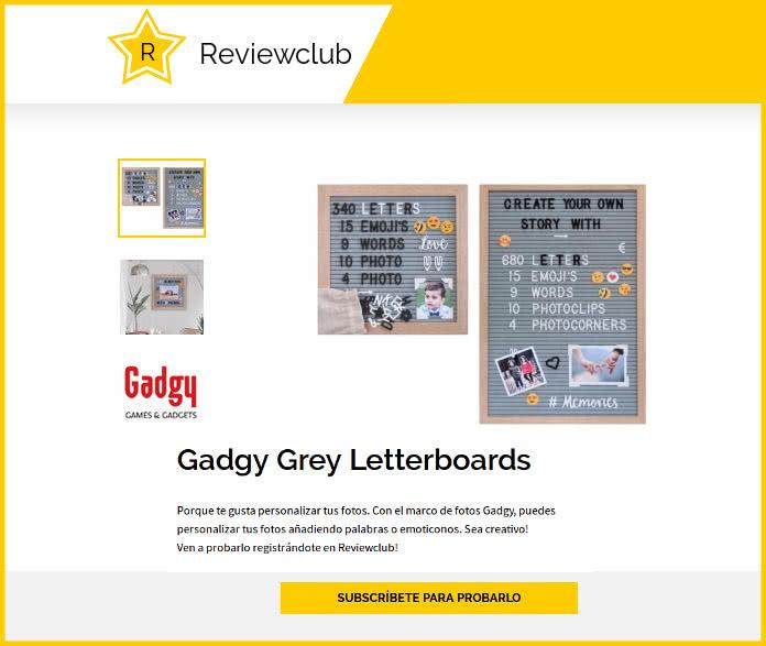 Prueba los Gadgy Grey Letterboards en ReviewClub