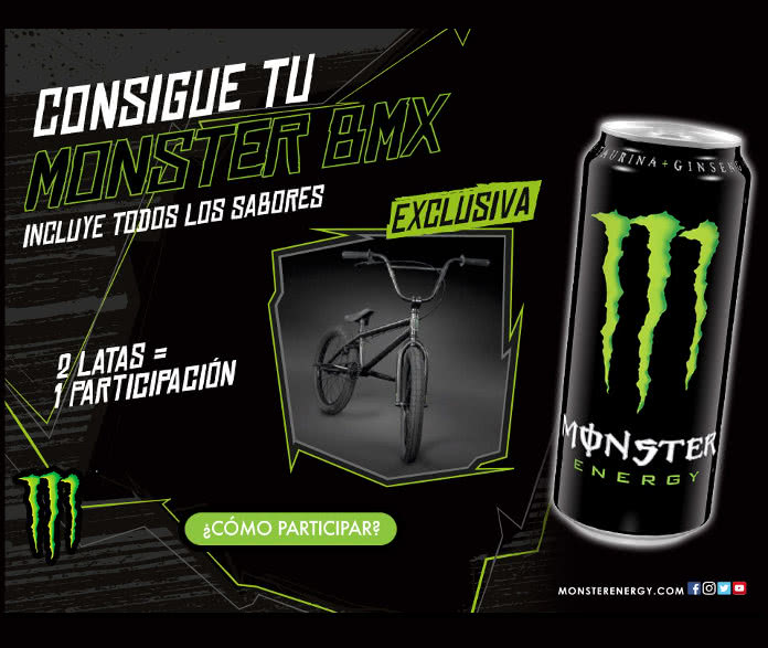 Sorteo de 10 bicis BMX con diseño Monster