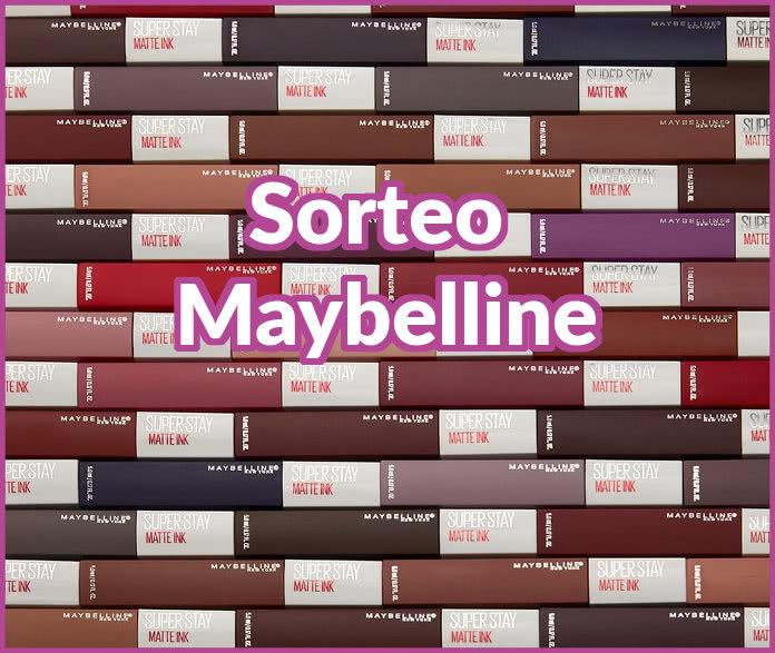 Maybelline sortea 15 kits con todos los tonos de Matte Ink
