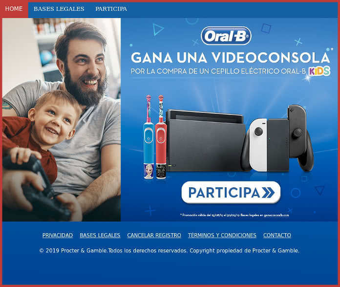Oral-B sortea 4 videoconsolas entre quienes compren un Oral-B Kids