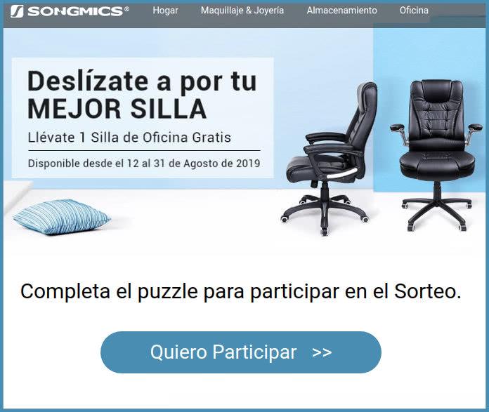 Consigue una silla de oficina de alta calidad en el sorteo de ...