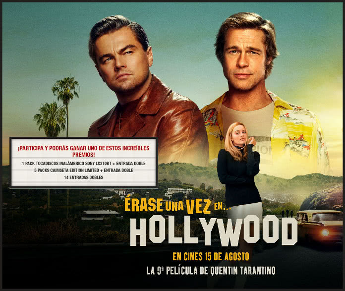 Sorteo de Sony para el estreno de Érase una vez en Hollywood