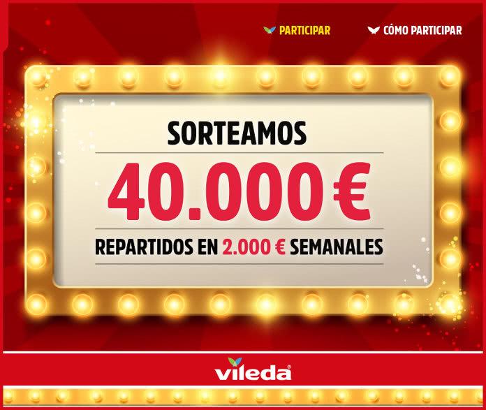 Vileda sortea 40.000 euros a razón de 2.000 por semana