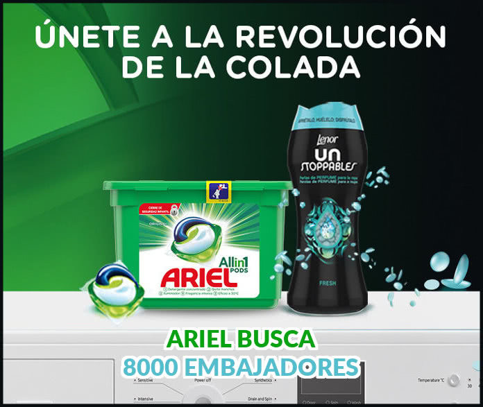 Más de 8.000 Muestras gratis y cupones de Ariel 3en1 Pods y Lenor UnStoppables