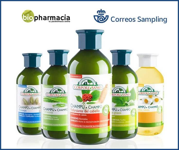 Lote de Muestras gratis de cosmética y cuidado personal de Biopharmacia