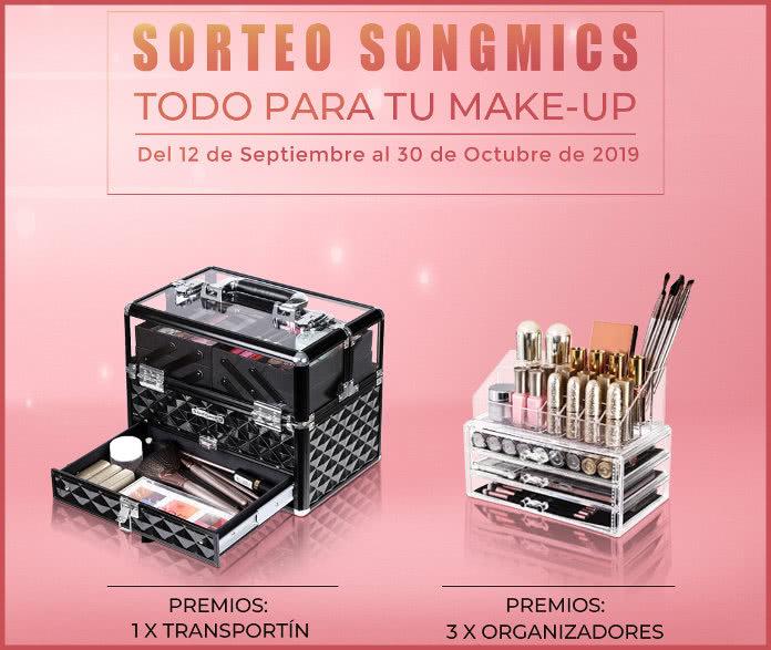 Sorteo Songmics de maletín para maquillaje y organizadores