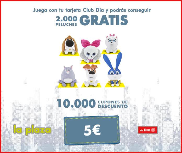 La plaza Dia sortea 2.000 peluches y 10.000 cupones de 5€