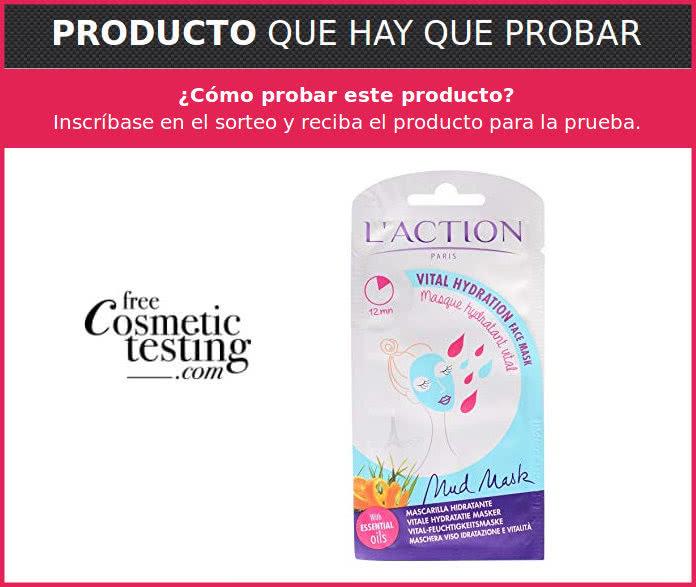 Free cosmetic Testing busca 25 probadoras de la máscara facial L'Action Paris