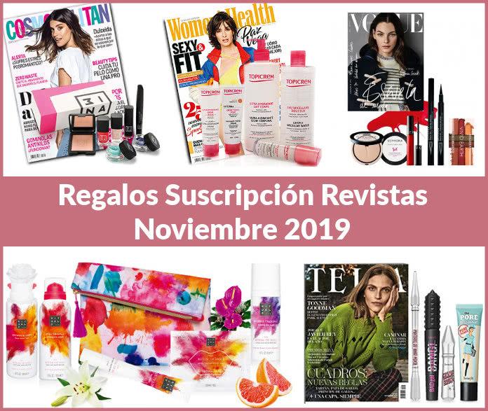 Regalos suscripción revistas noviembre 2019
