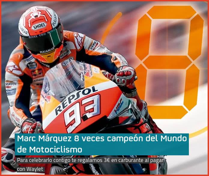 Waylet te regala 3€ para Repsol por la victoria de Marquez