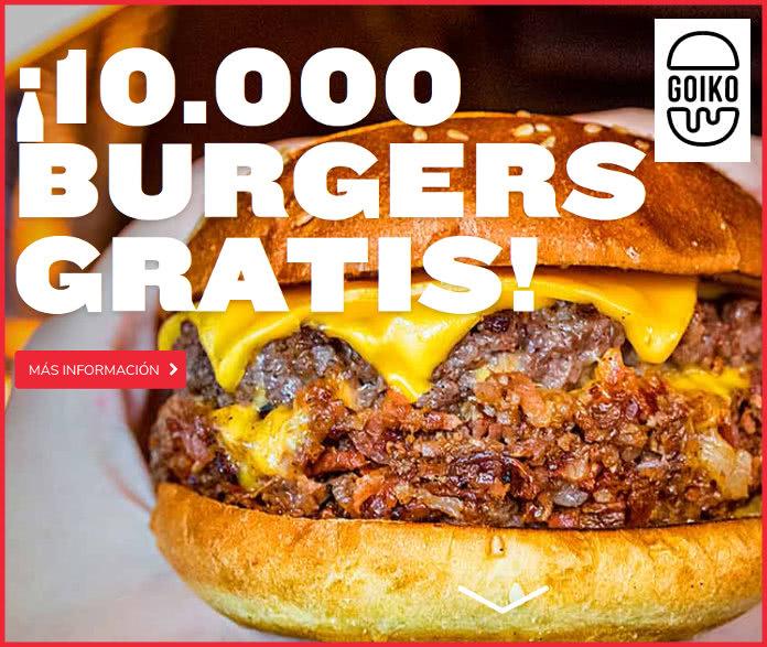 10.000 hamburguesas gratis en Goiko Grill