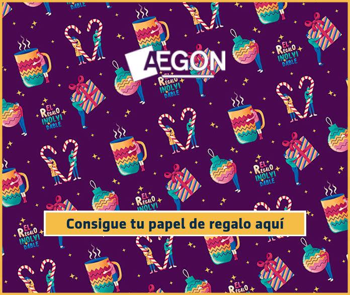 Pide gratis el papel de envolver de Aegon y donarán 2€ por ti