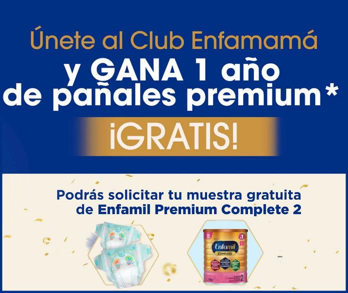 Club Enfamamá sortea 1 año de pañales gratis y regala muestras de Enfamil Premium Complete 2