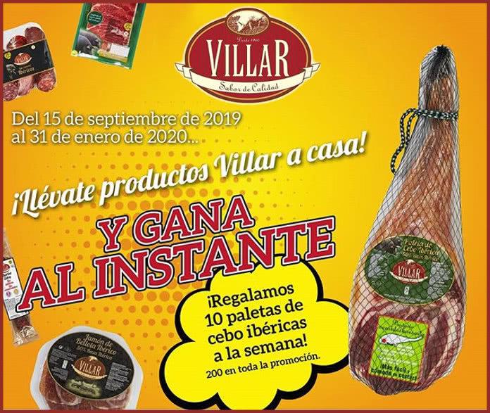 Villar sortea 10 paletas de cebo ibéricas por semana