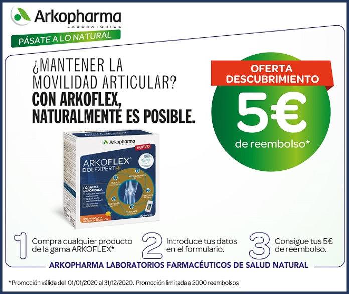 2000 reembolsos de 5€ para Arkoflex