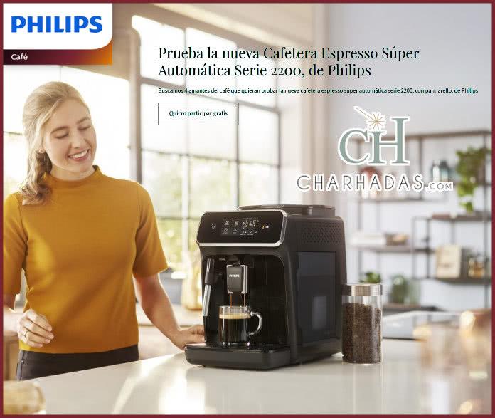 Charhadas busca 4 probadoras para la nueva cafetera espresso Súper Automática Serie 2200 de Philips