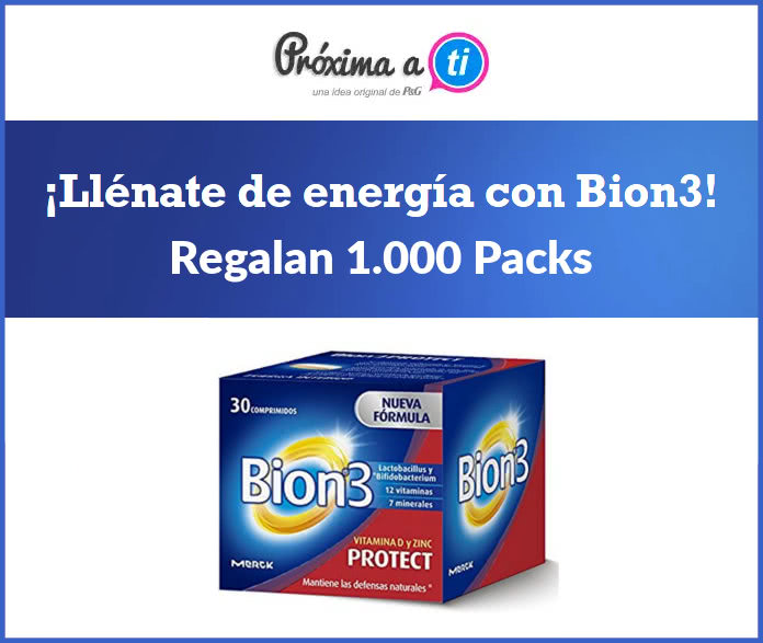 Próxima a ti regala 1.000 packs de Bion3 Protect