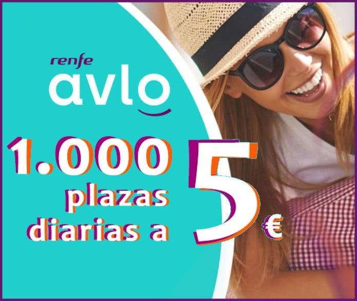 Renfe va a repartir 10.000 billetes de Alta velocidad Avlo a 5€