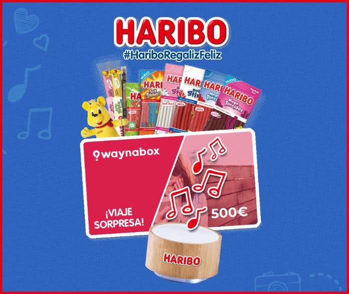 Haribo sortea 1 viaje sorpresa Waynabox y 25 lotes de producto regaliz altavoz incluido