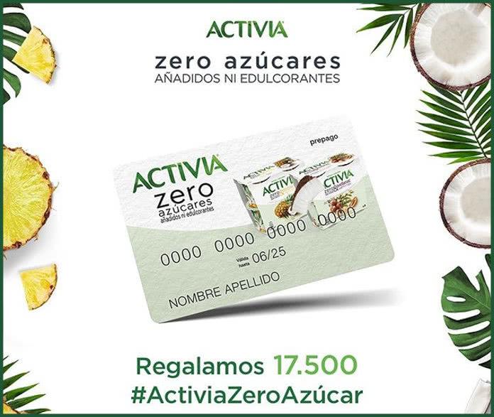Nuevo sorteo de Activia con 500 tarjetas de 10€