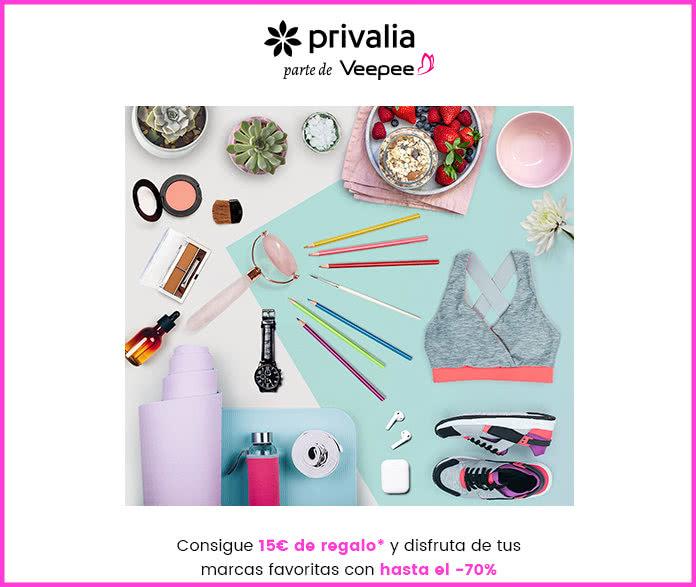 Regalo de 15€ para gastar en Privalia en compras de 15 o más euros