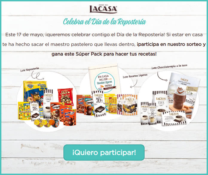 Chocolates LaCasa sortea 1 pack de productos