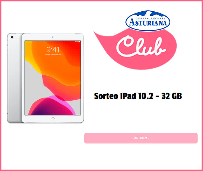 Club Central lechera Asturiana sortea un iPad de 10.2 pulgadas