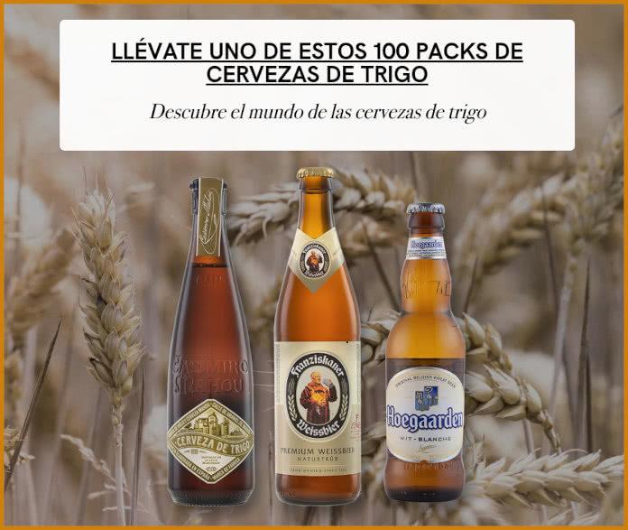 Cervecistas sortea 100 packs de cerveza de trigo