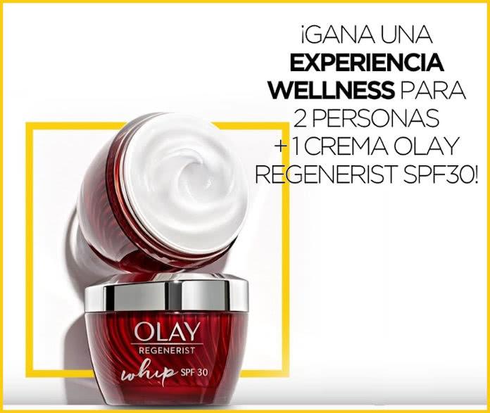 Olay regala 50 tratamientos wellness para 2 personas más 1 Crema Olay