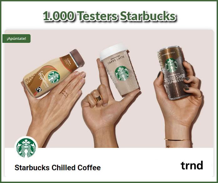 trnd busca 1.000 probadores a domicilio de Starbucks Chilled Coffe