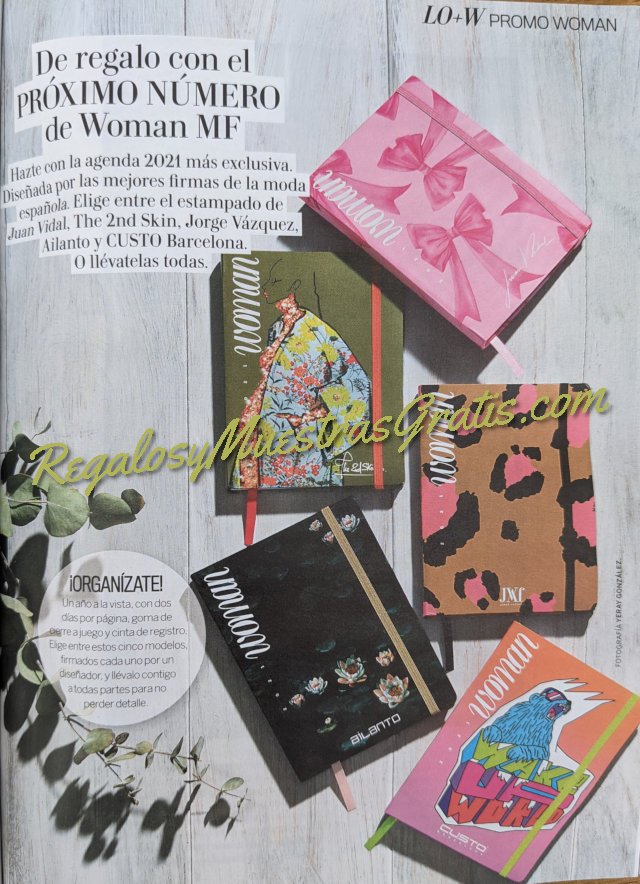 Avance Regalos Revista Woman Diciembre 2020