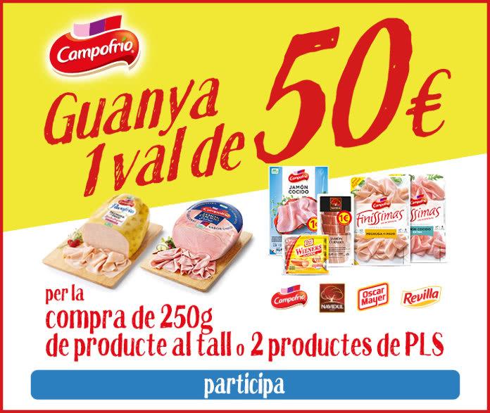 Campofrio Sorteo Vales 50 Euros