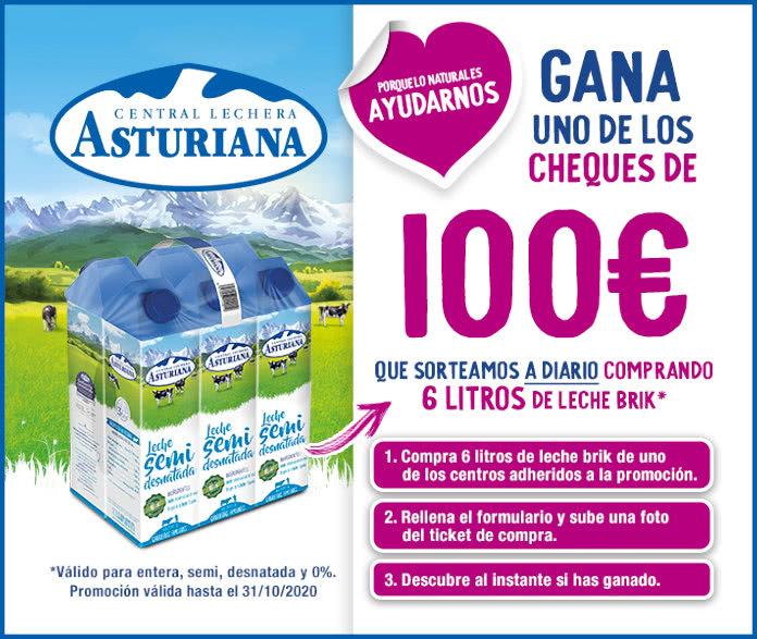 Central Lechera Asturiana Sorteo Cheques 100 Euros