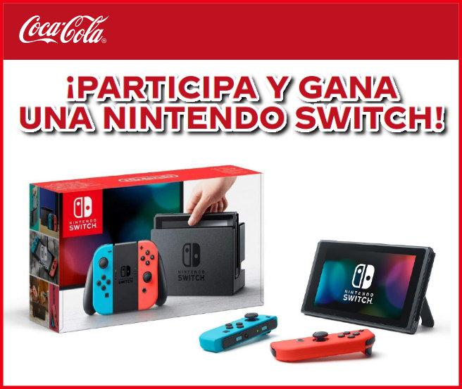 Cocacola Sorteo Nintendo Switch