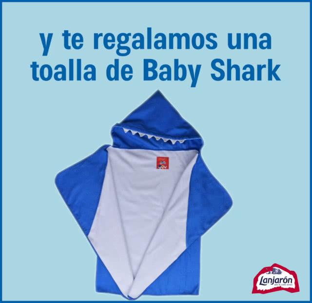 Lanjaron Baby Shark Toalla Regalo Por Compra