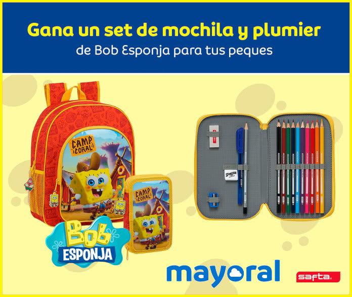 Mayoral Sorteo Bob Esponja Mochila y Plumero