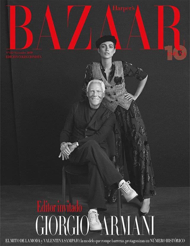 Portada Revista Harpers Bazaar Noviembre 2020
